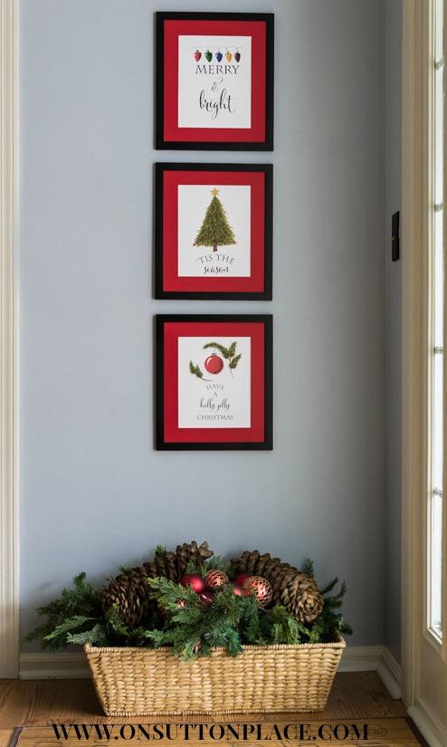 Diy Christmas Wall Art  Free Christmas Printables Sutton Place