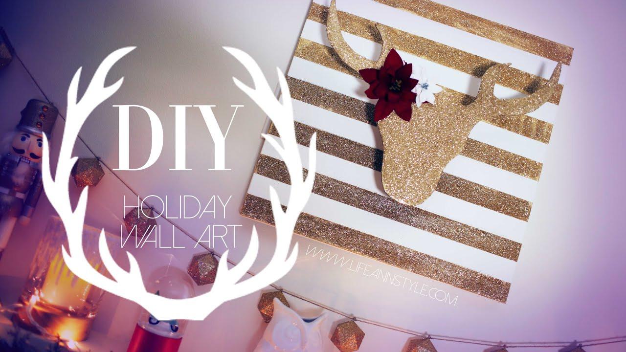 Diy Christmas Wall Art  DIY Christmas Reindeer Wall Art Decor