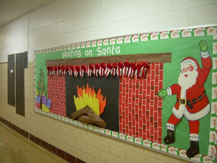 Fireplace Bulletin Board Christmas  Christmas Bulletin Board New classroom ideas