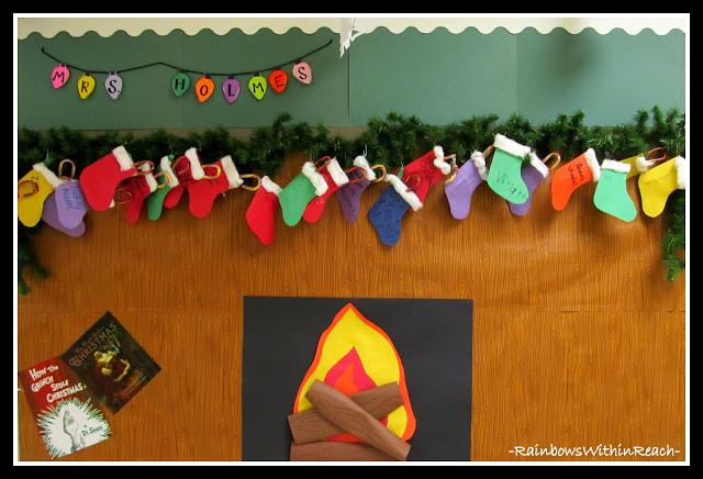 Fireplace Bulletin Board Christmas