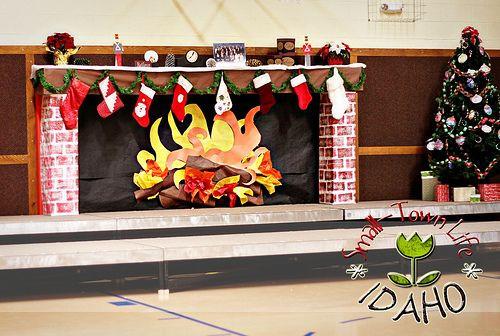Fireplace Bulletin Board Christmas  85 best bulletin boards images on Pinterest