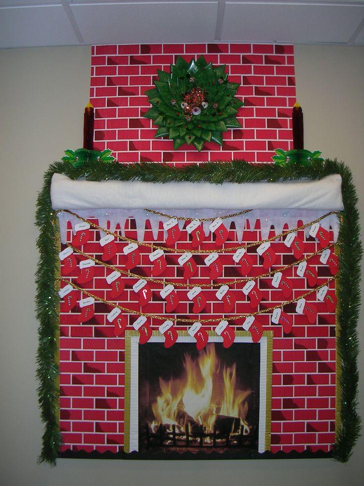Fireplace Bulletin Board Christmas  1000 ideas about Frog Bulletin Boards on Pinterest
