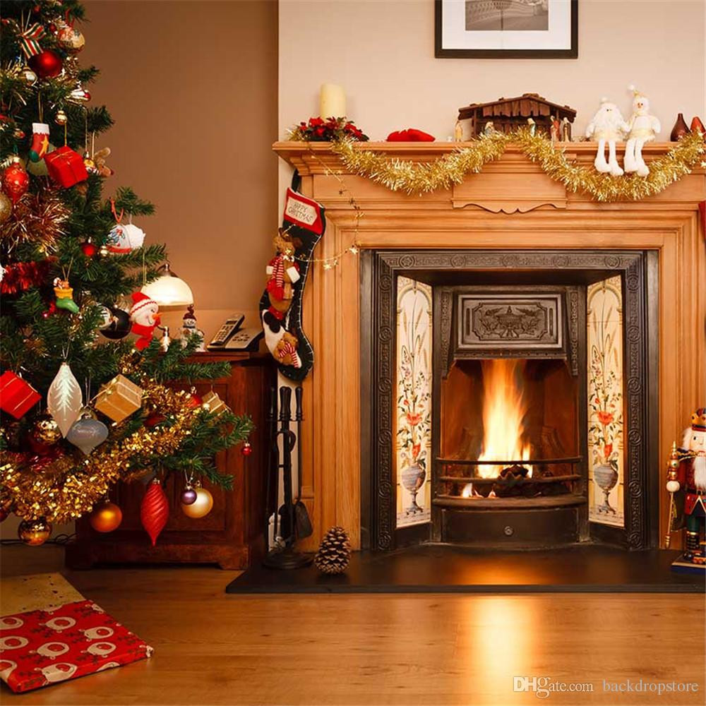 Fireplace Christmas Background  2019 Merry Christmas Fireplace Background For Kids
