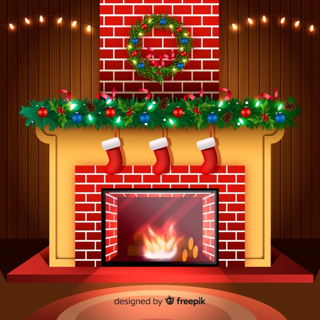 Fireplace Christmas Background  Chimney Vectors s and PSD files