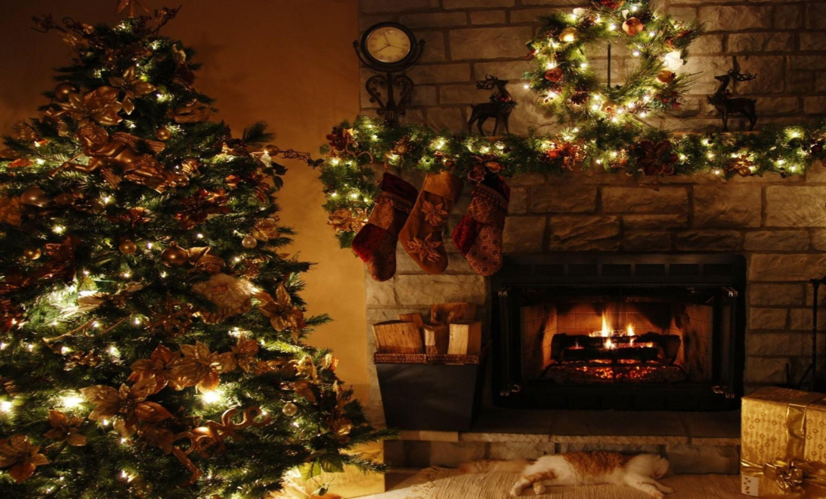 Fireplace Christmas Background  Christmas Fireplace Backgrounds Wallpaper Cave
