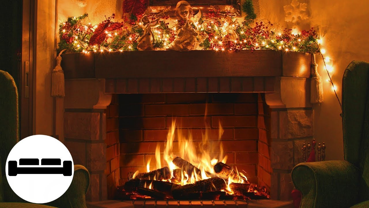 Fireplace With Christmas Music  Christmas Music with Fireplace