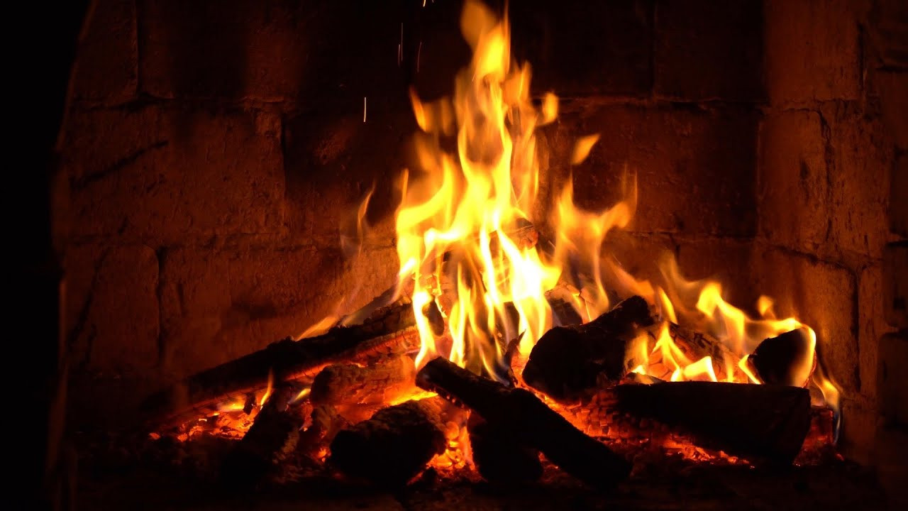 Fireplace With Christmas Music  Instrumental Christmas Music with Fireplace 24 7 Merry