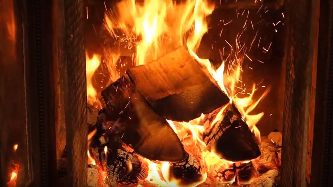 Fireplace With Christmas Music  ficial Christmas Fireplace 🔥 2 HOURS Christmas Music