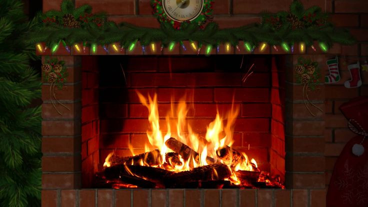 Fireplace With Christmas Music  17 Best images about Fireplace on Pinterest
