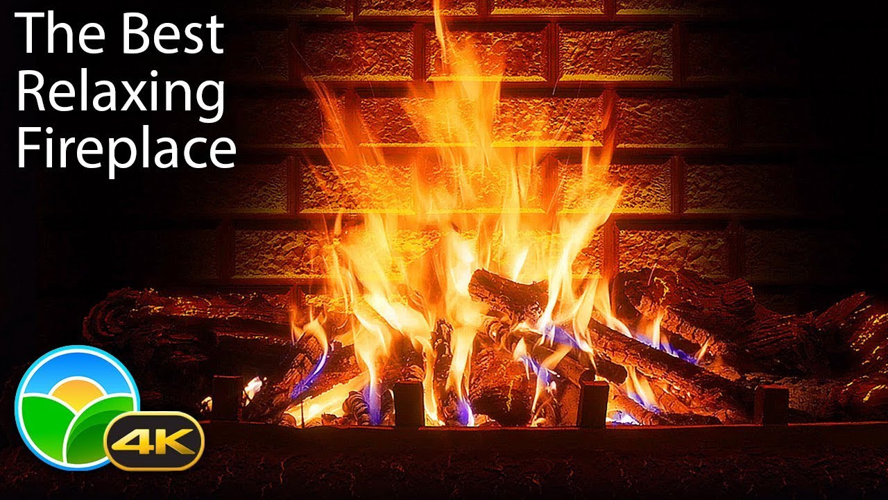 Fireplace With Christmas Music  4K Relaxing Fireplace & The Best Instrumental Christmas