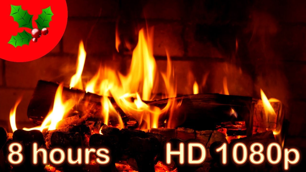 Fireplace With Christmas Music  8 HOURS ☆ CHRISTMAS MUSIC Instrumental ♫ FIREPLACE ☆ YULE
