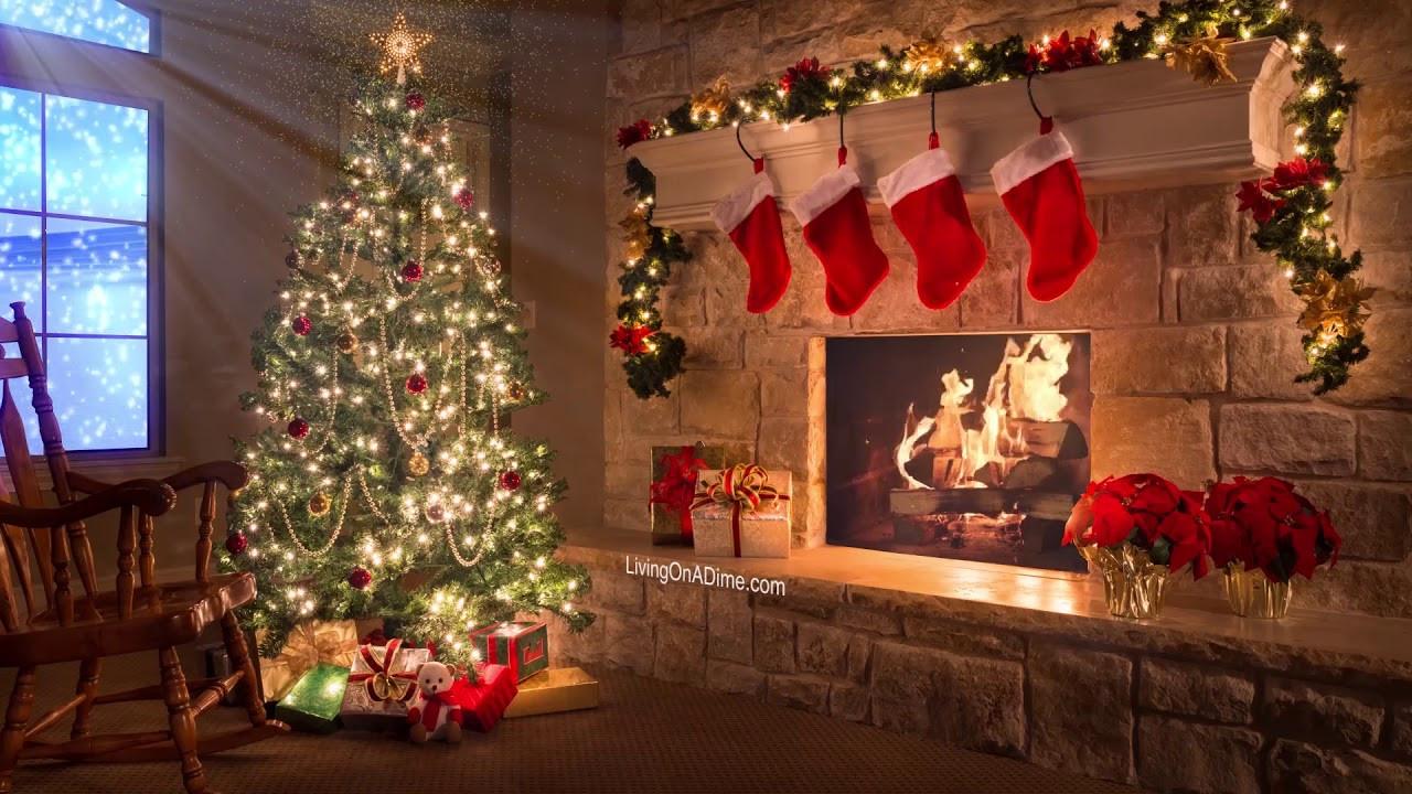 Fireplace With Christmas Music  Merry Christmas Christmas Music Video With Fireplace and