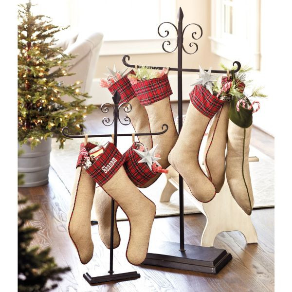 Floor Christmas Stocking Holder  Festive Ways To Hang The Christmas Stockings In The House