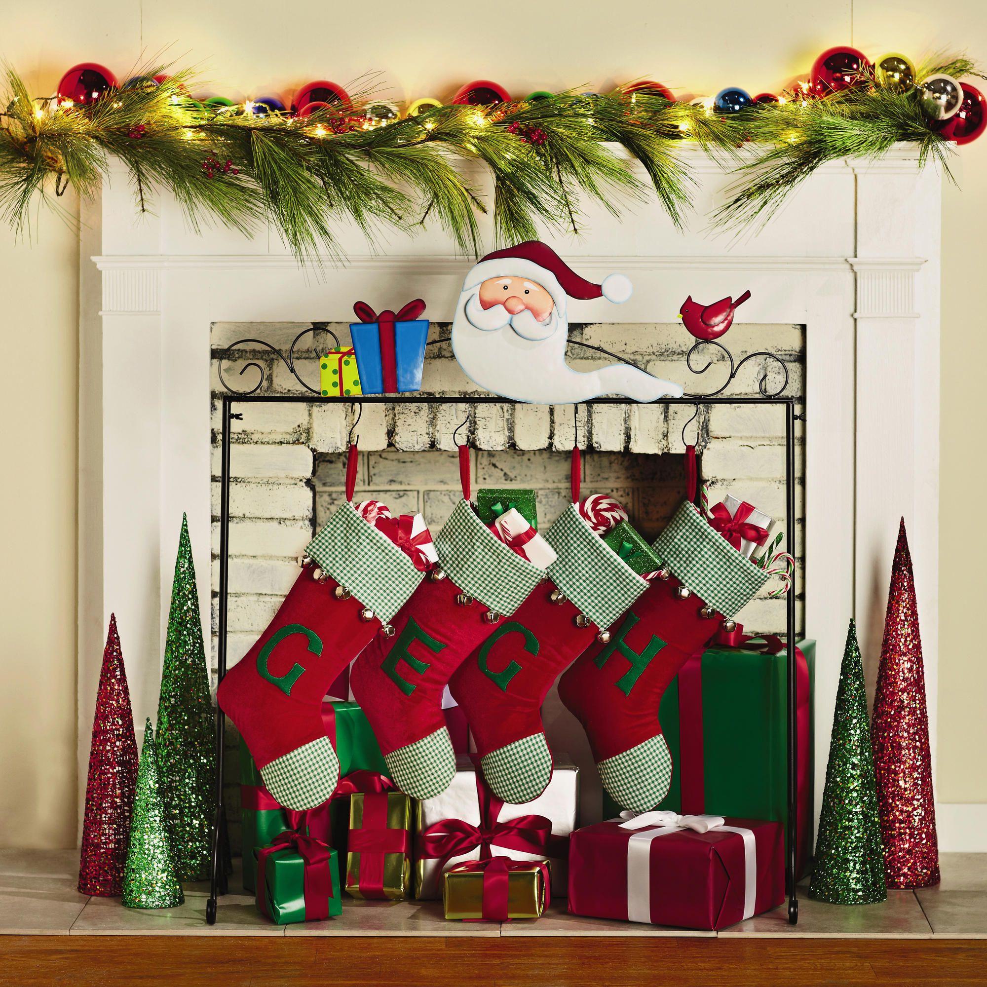 Floor Christmas Stocking Stands  Santa Freestanding Christmas Stocking Holder