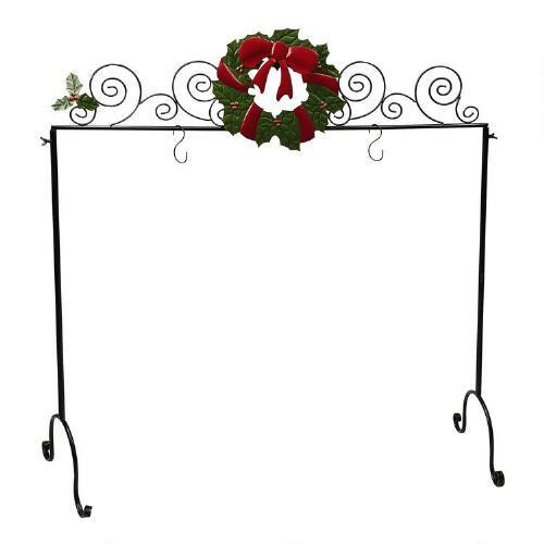 Floor Christmas Stocking Stands  Wreath Freestanding Christmas Stocking Holder