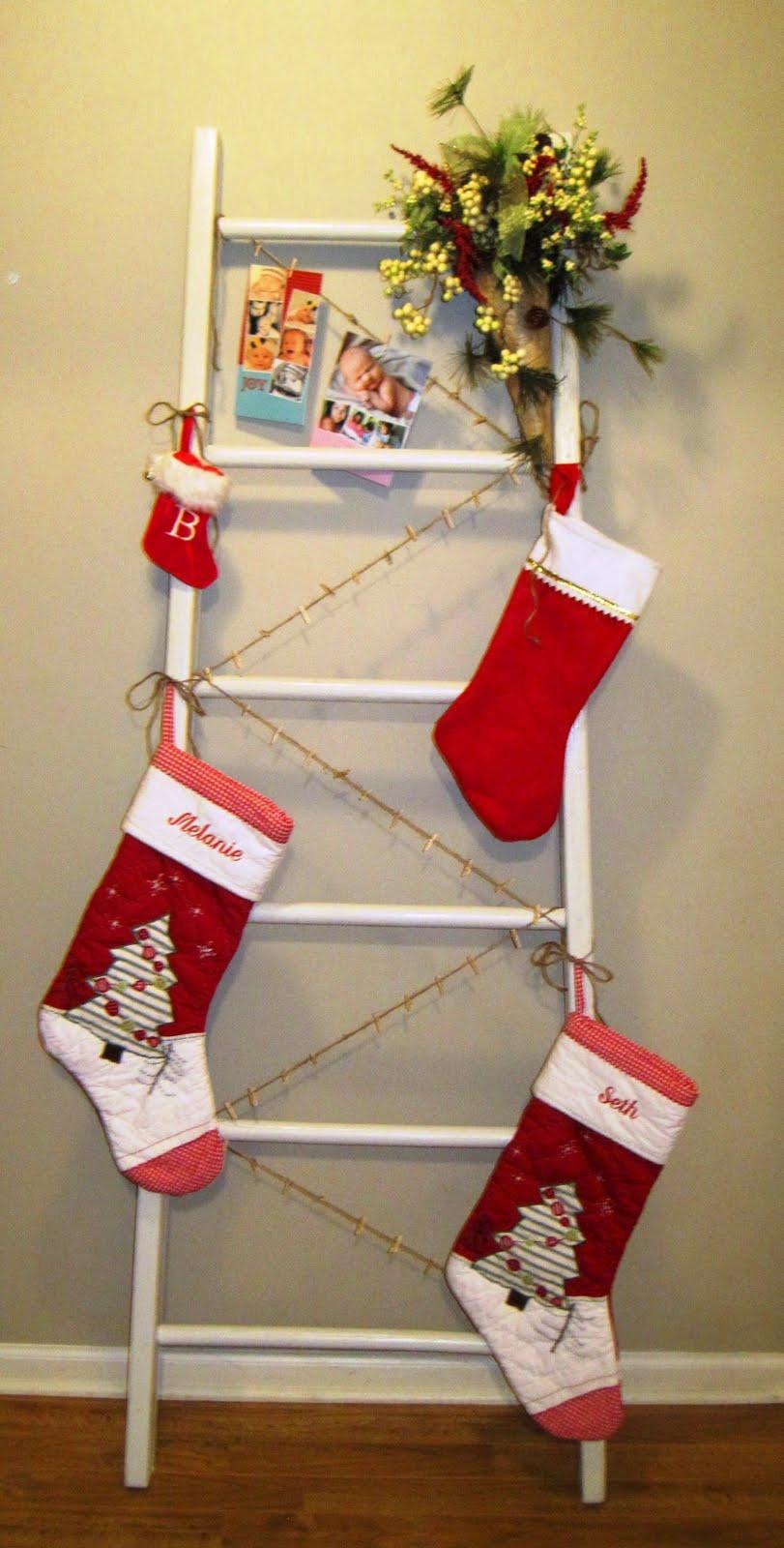 Floor Christmas Stocking Stands  LoveLeigh Again Christmas Ladder