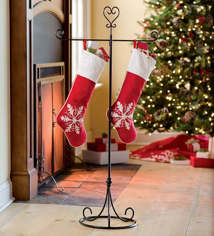 Floor Christmas Stocking Stands  Best 25 Stocking holder stand ideas on Pinterest