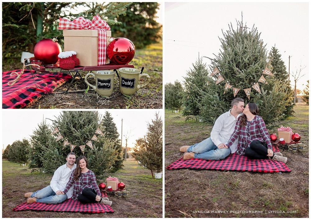 Flower Mound Christmas Tree Farm  Fort Worth Pregnancy Announcement grapher Flower