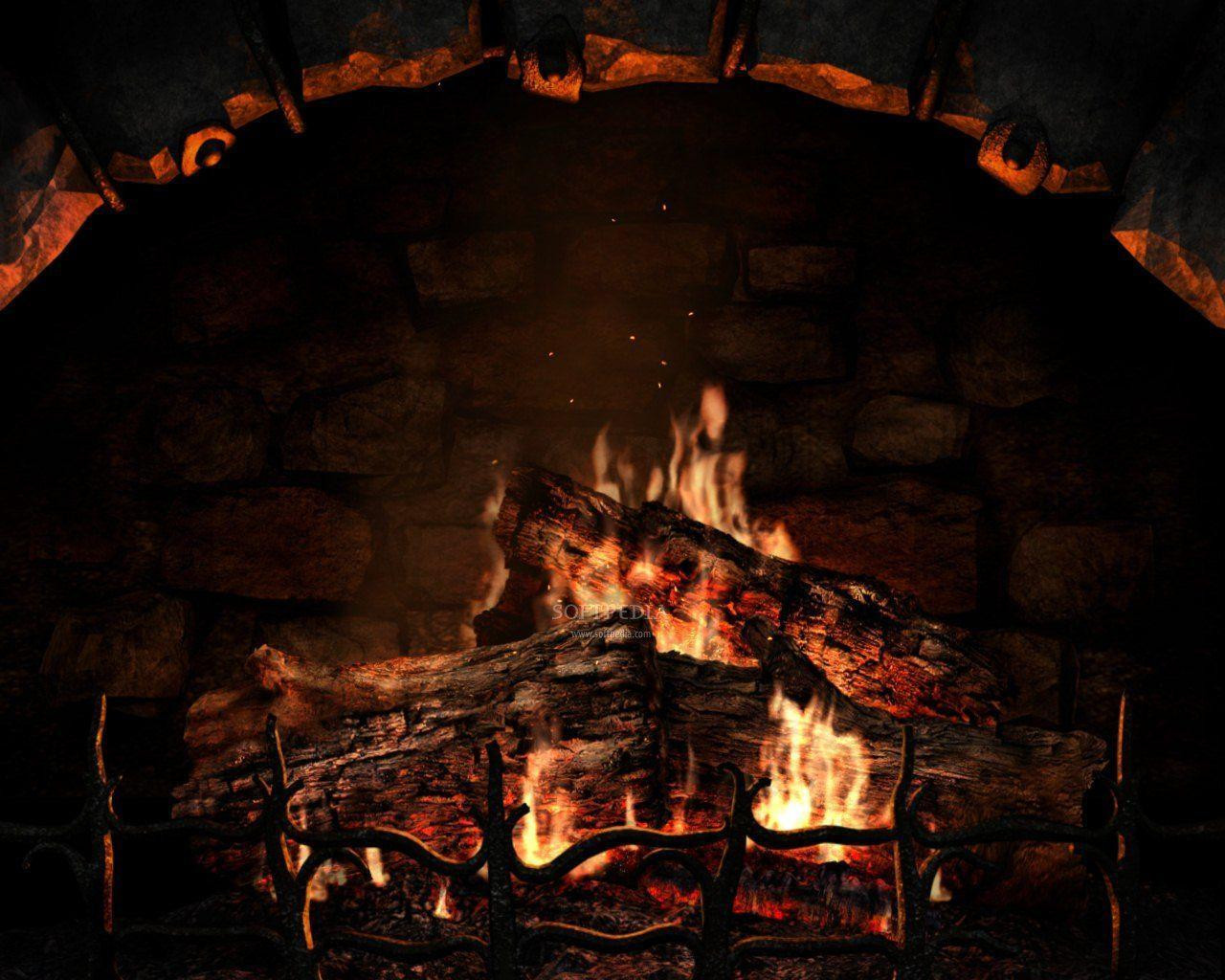 Free Christmas Fireplace Screensaver  Free Fireplace Wallpapers Wallpaper Cave