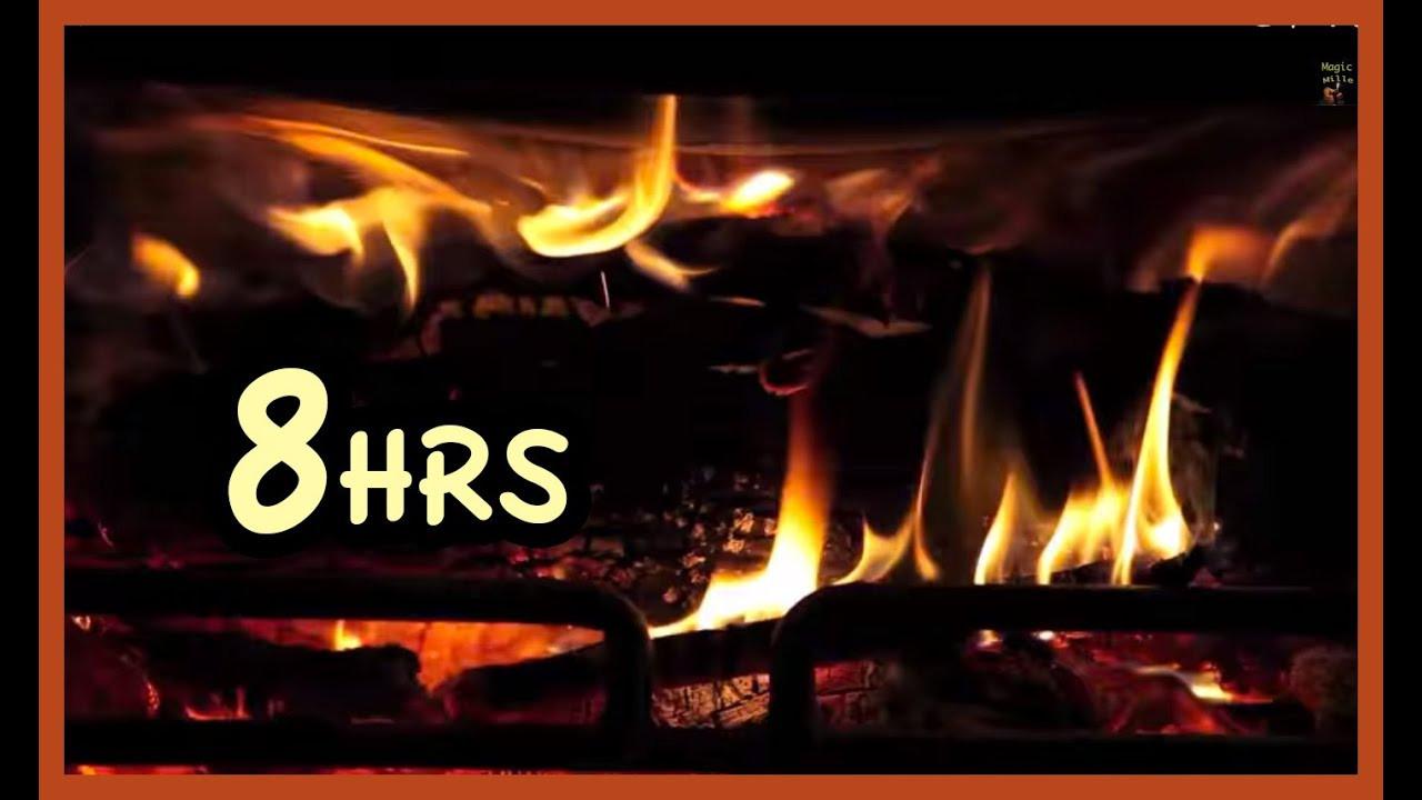 "Free Christmas Fireplace Screensaver  8 Hrs Beast Fireplace Realistic ""screensaver"""