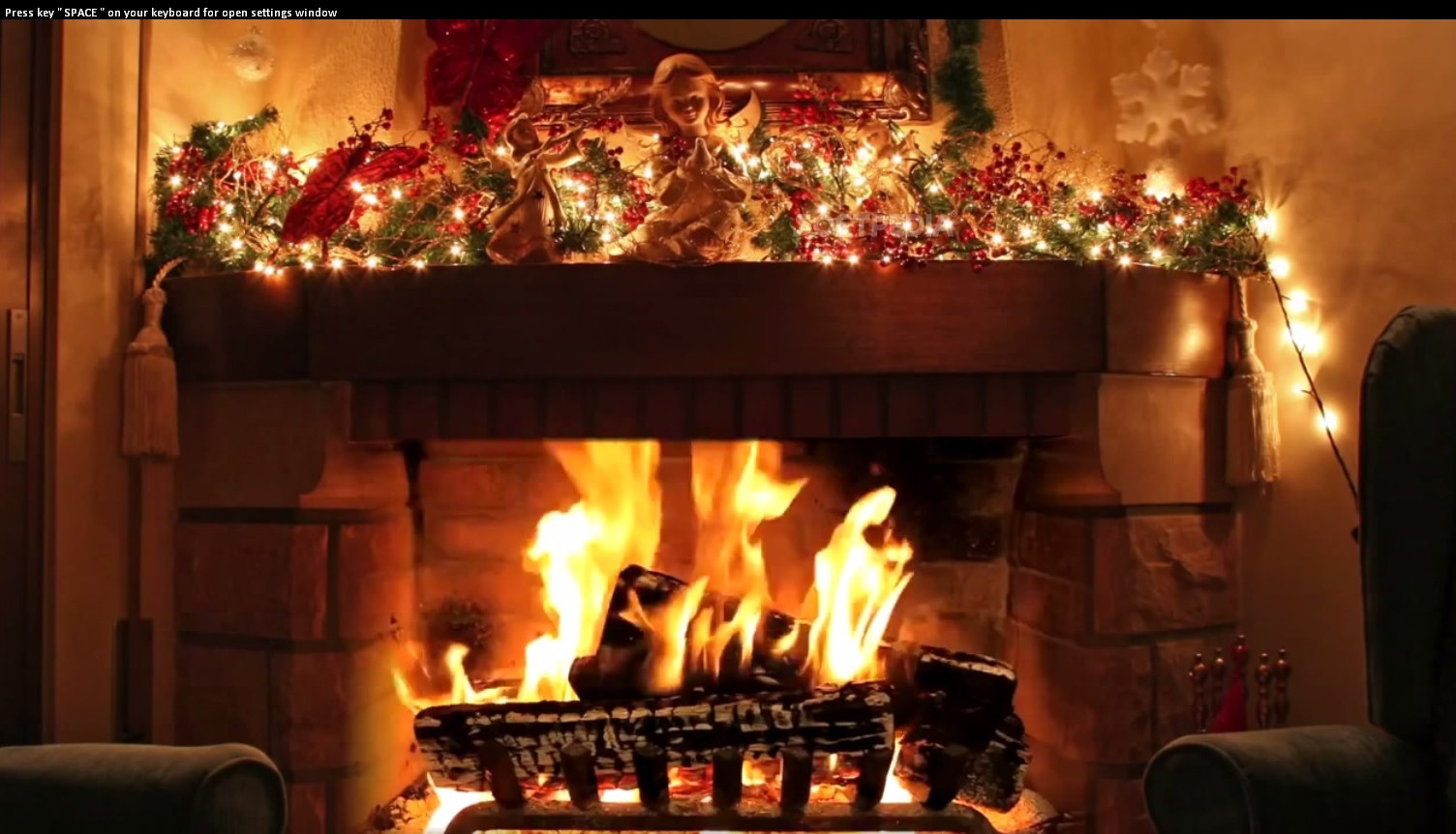 Free Christmas Fireplace Screensaver  Christmas Fireplace ScreenSaver Download