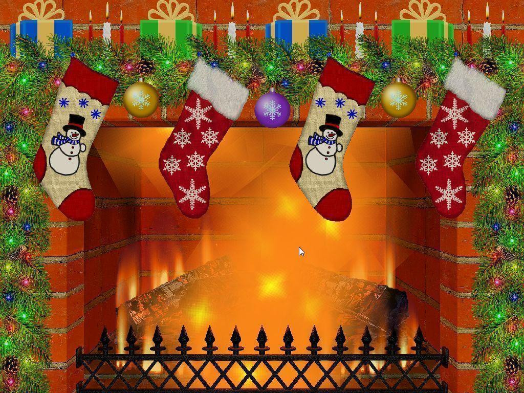 Free Christmas Fireplace Screensaver  Christmas Fireplace Backgrounds Wallpaper Cave