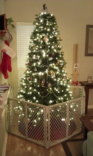 Gate For Christmas Tree  Baby Playpen Fence Review it s BABY time