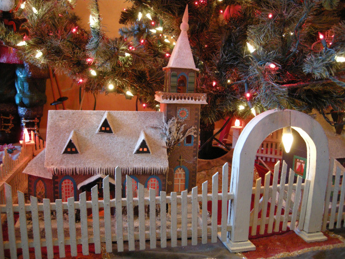 Gate For Christmas Tree  Antique Christmas Tree Fences