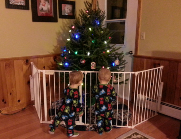 Gate For Christmas Tree  What Twin Toddlers Love To Do