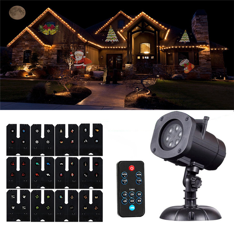 Indoor Christmas Projector  SXZM Christmas Projector Light Decorations12 slides with