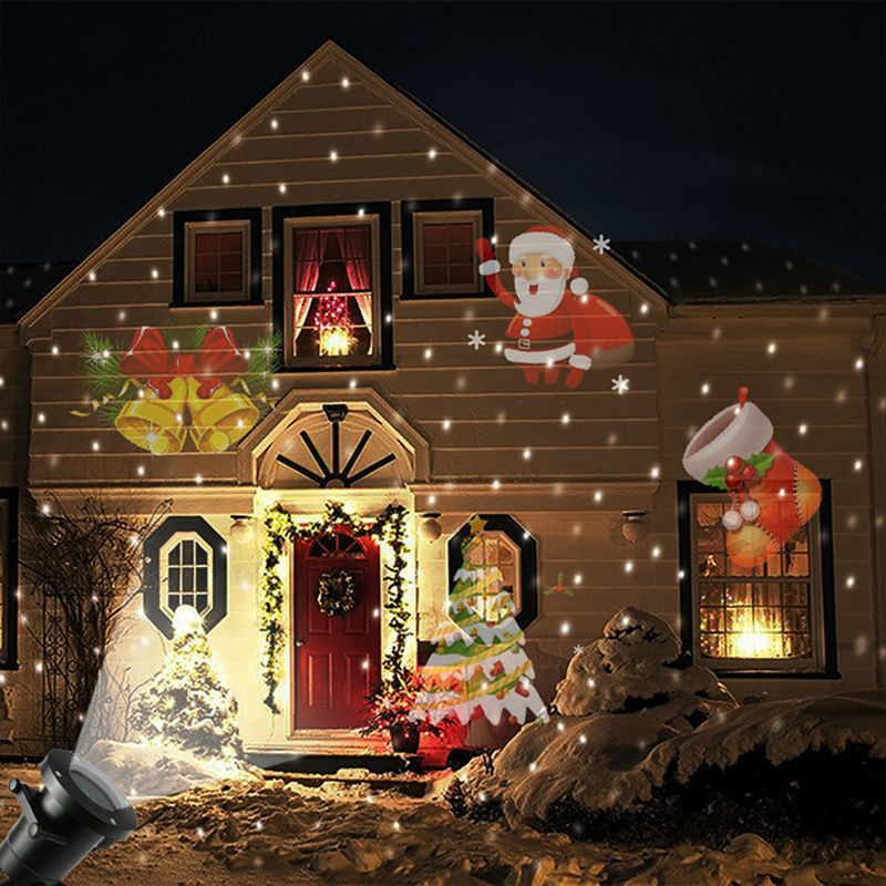 Indoor Christmas Projector  AC100 240V Christmas Led Lights Outdoor Indoor Christmas