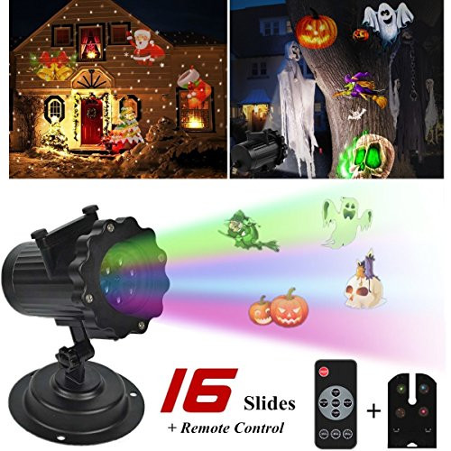 Indoor Christmas Projector  AGVOEA Halloween Led Light Projector Slides Indoor Outdoor