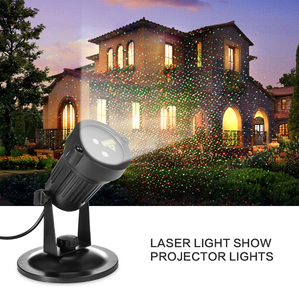 Indoor Christmas Projector  Christmas Laser Projector Mini IP65 Waterproof RG Laser