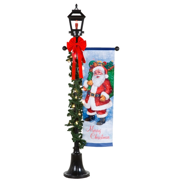 Lighted Outdoor Christmas Lamp Post  Outdoor Holiday Lamp Post Gemmy Wiki