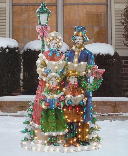 Lighted Outdoor Christmas Lamp Post  victorian christmas decorations
