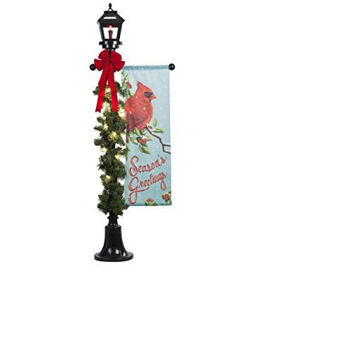 Lighted Outdoor Christmas Lamp Post  6 ft Holiday Lighted Lamp Post Outdoor Christmas