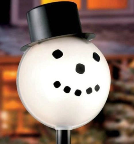 Lighted Outdoor Christmas Lamp Post  Snowman Head Christmas Outdoor Light lightpost Lamppost