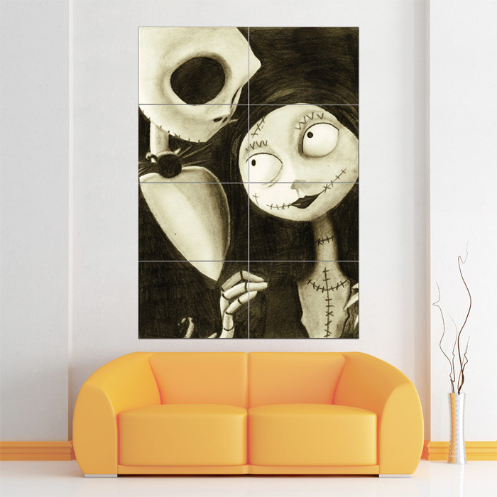 Nightmare Before Christmas Wall Decor  Nightmare Before Christmas Block Giant Wall Art Poster