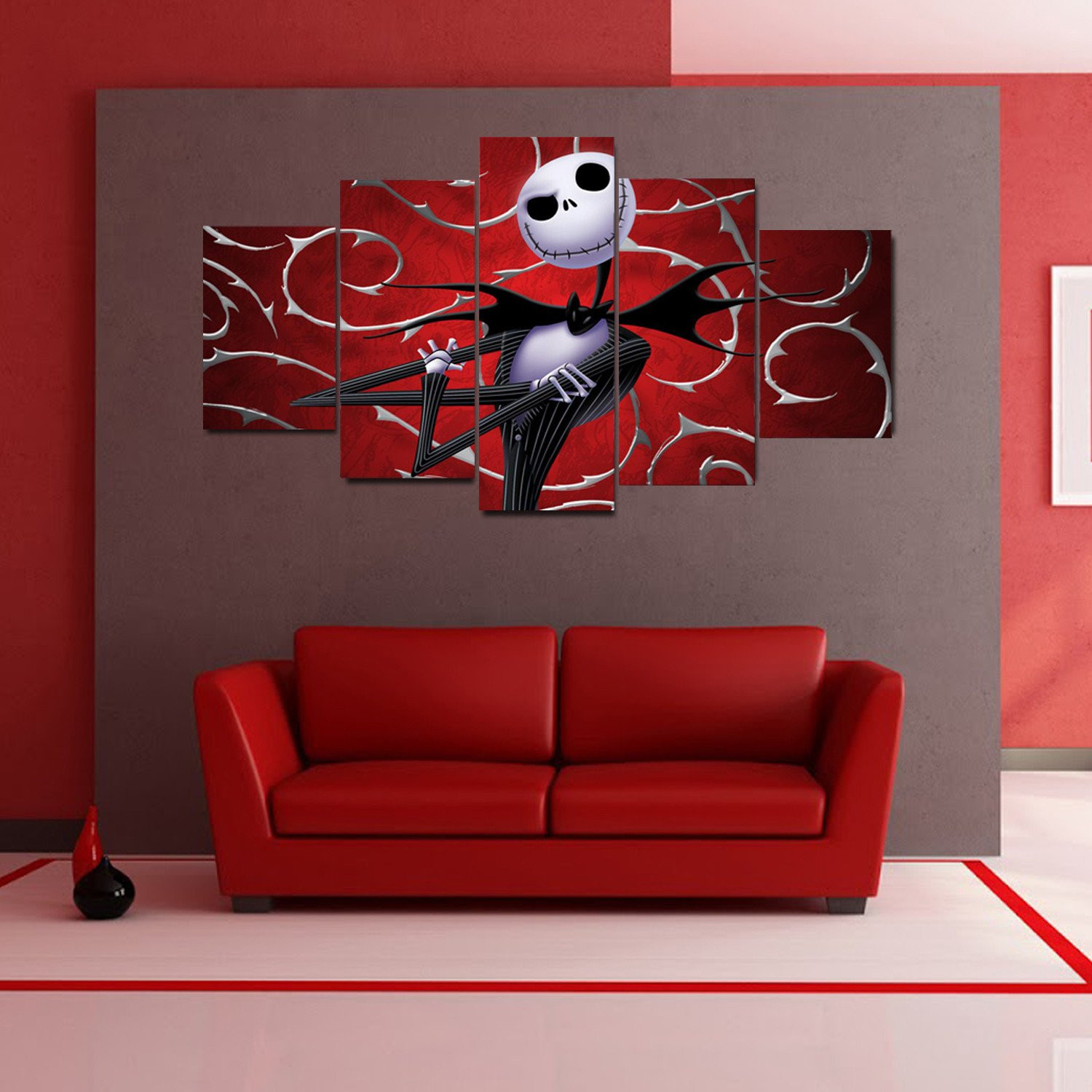 Nightmare Before Christmas Wall Decor  The Nightmare Before Christmas Modern Canvas Wall Art