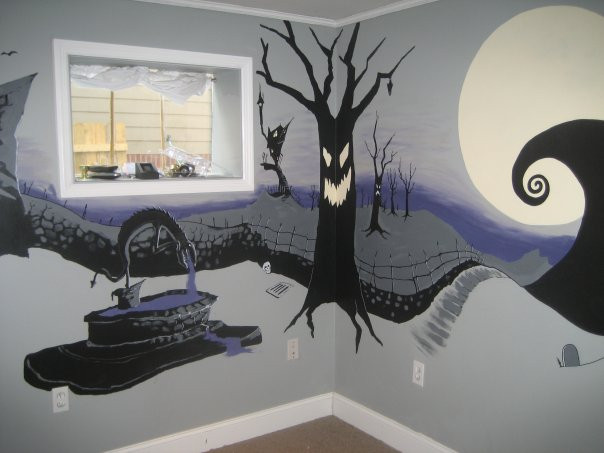 Nightmare Before Christmas Wall Decor  ArtSpace The Nightmare Before Christmas Mural