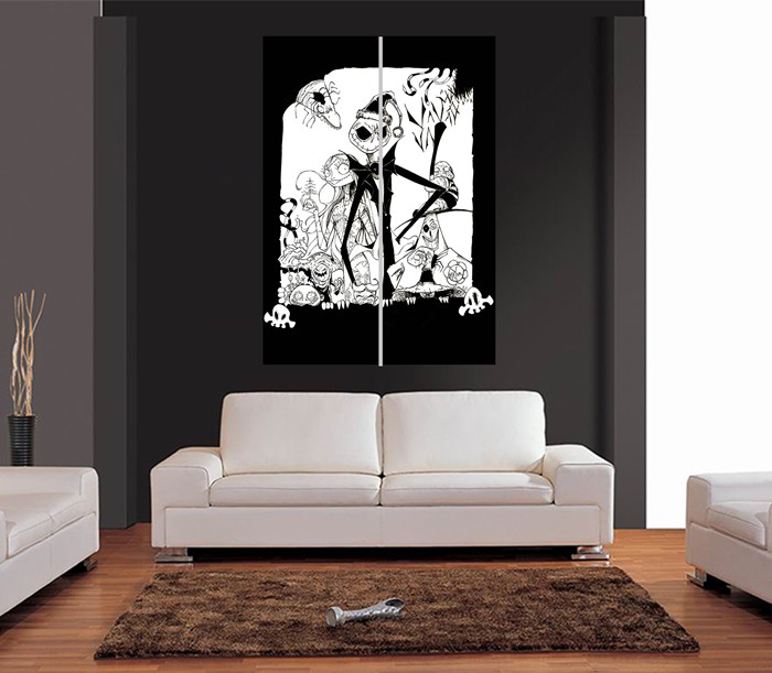 Nightmare Before Christmas Wall Decor  THE NIGHTMARE BEFORE CHRISTMAS Ref 03 Giant Wall Art Print
