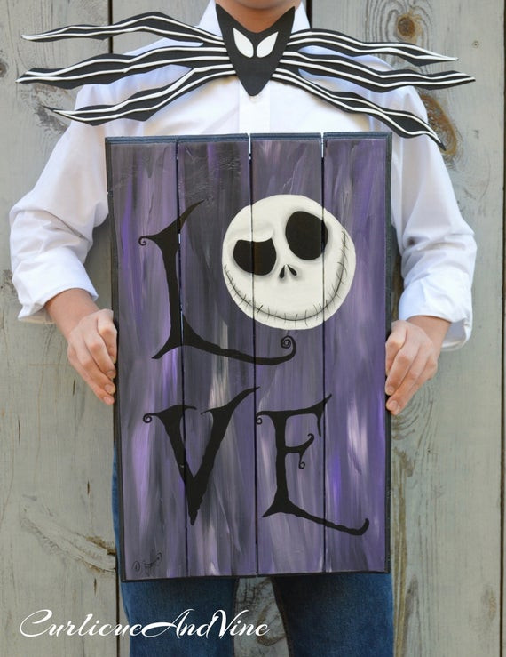 Nightmare Before Christmas Wall Decor  The Nightmare Before Christmas Inspired Pallet Wood Jack