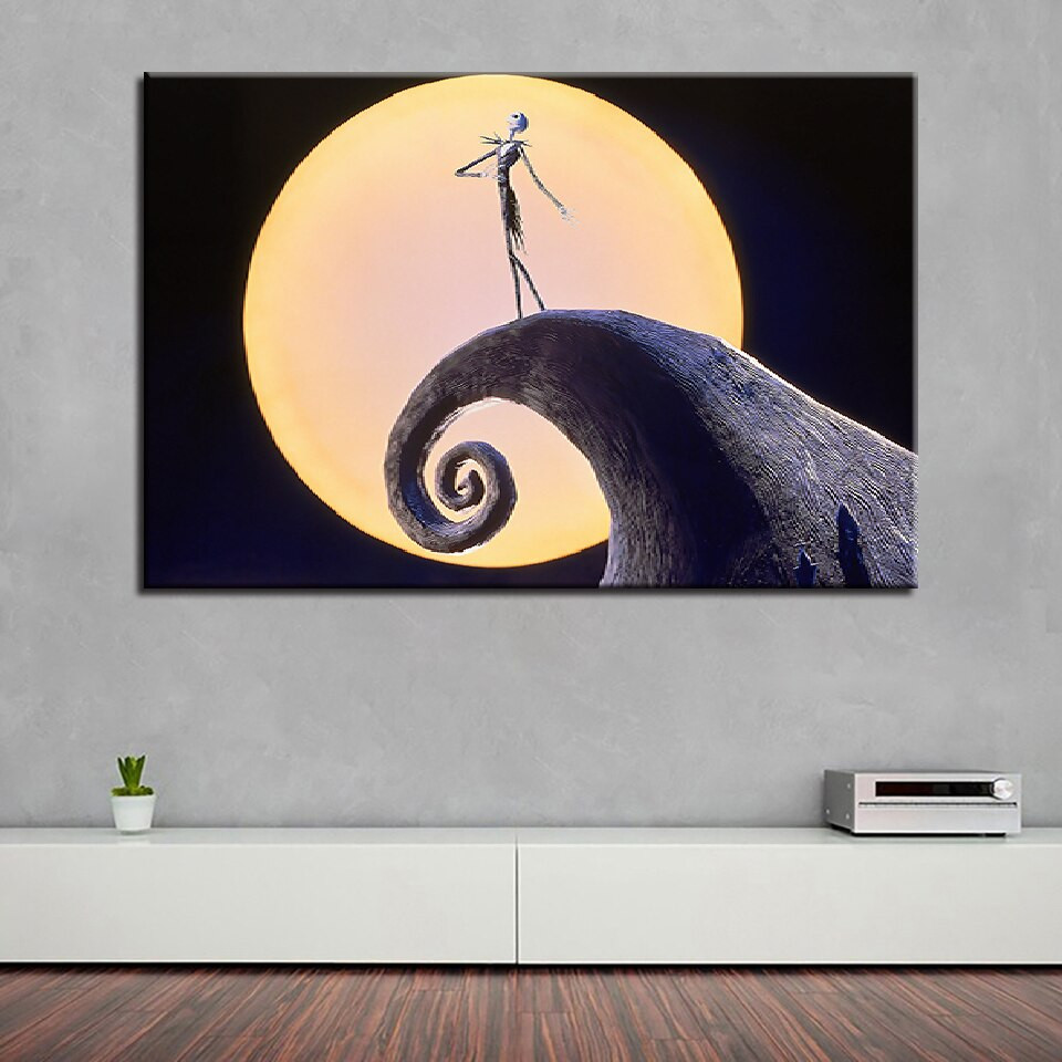 Nightmare Before Christmas Wall Decor  Artwork Poster HD Prints Home Decor 1 Pieces Nightmare