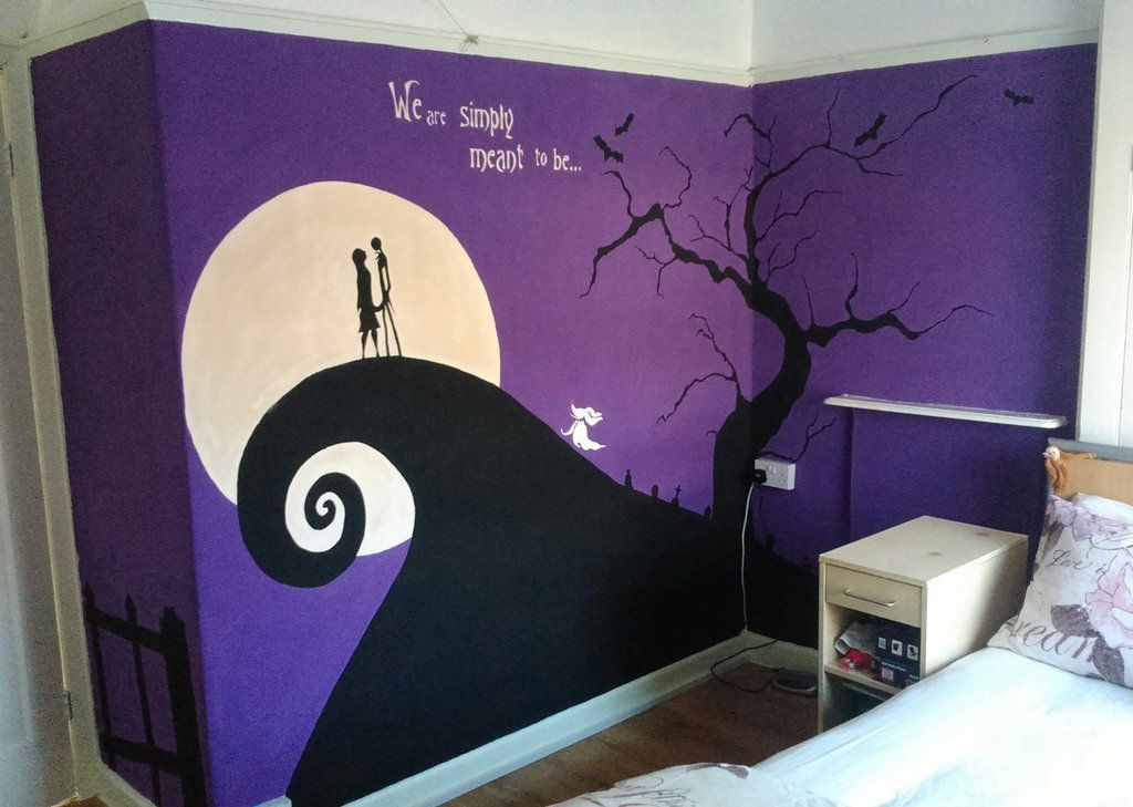 Nightmare Before Christmas Wall Decor  Nightmare Before Christmas Wall Mural Finished by Anaseed