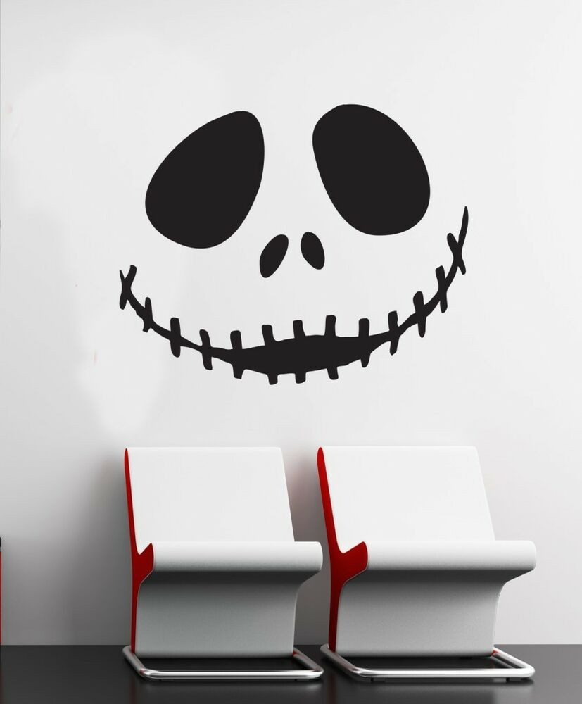 Nightmare Before Christmas Wall Decor  Wall Art sticker decal vinyl 0114 Jack Skellington