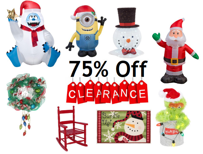Outdoor Christmas Decorations Clearance  Home Depot Over 500 Indoor & Outdoor Christmas