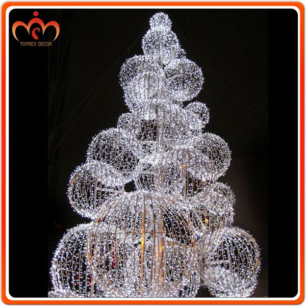 Outdoor Christmas Decorations Clearance  Dismountable Ball Tree Outdoor Christmas Decorations