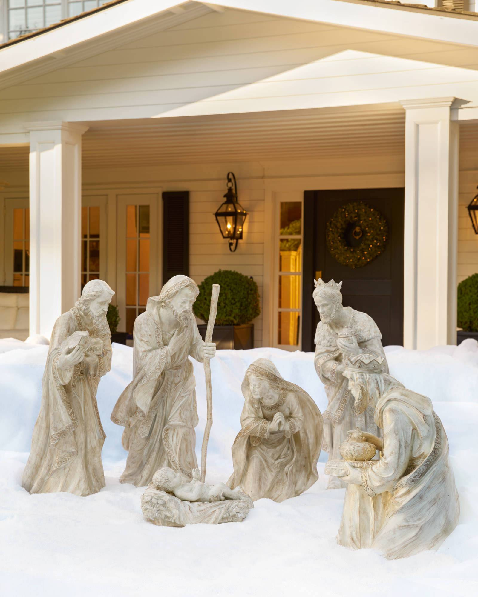 Outdoor Christmas Decorations Clearance  Outdoor Nativity Set