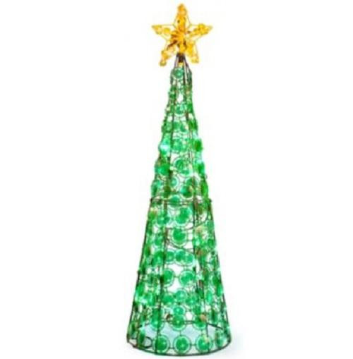 Outdoor Christmas Decorations Clearance  CLEARANCE Outdoor Lighted CONE CHRISTMAS TREE Holiday Yard