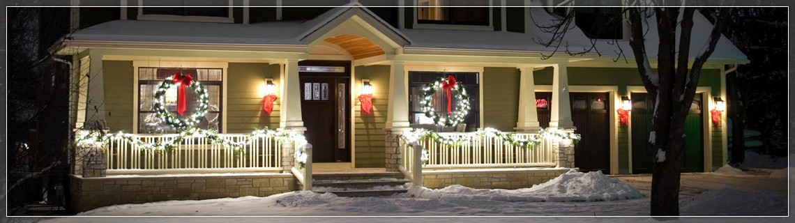 Outdoor Christmas Garland With Lights  Christmas Wreaths and Garland
